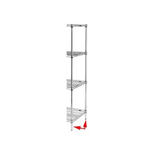 METRO Super Adjustable Super Erecta Chrome-Plated Shelf Post with Feet 74'' high 74P