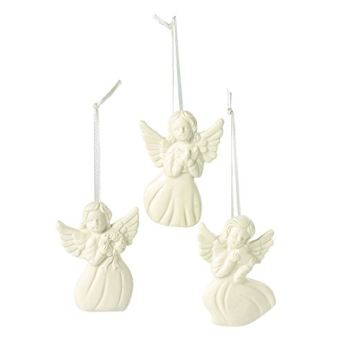 Jade Porcelain Angel Ornaments (1-Dozen) - Ornaments and Collectibles