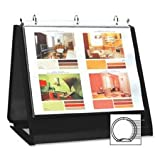 Ring Binder Easel, 3/4'' Cap, Horizontal, 11''x8-1/2'', Black, Sold as 1 Each