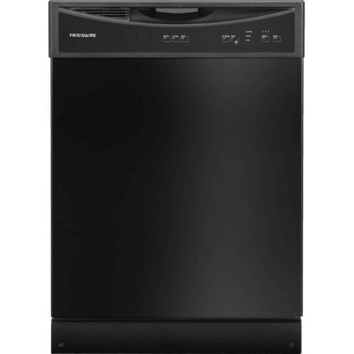 "Frigidaire FFBD2406NB 24"" Full Console Built In Dishwasher with 14 Place Settings 3 Wash Cycles 60 dBA SpaceWise Delay Start Soft Food Disposer Energy Star Certified in"