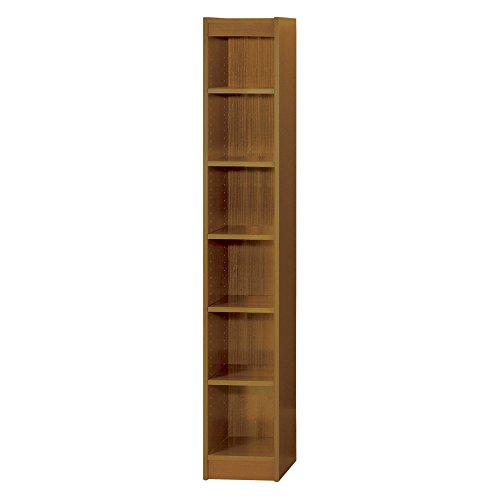 Safco Products 1511MOC Baby Bookcase, 6 Shelf, 12″ Wide, Medium Oak