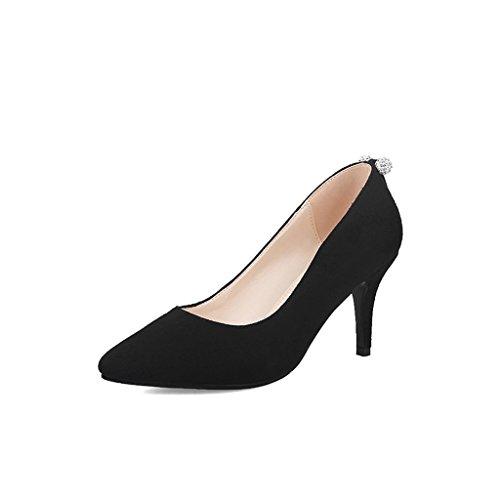 ALUK- Brautschuhe / Hochzeitsschuhe / Schuhe mit hohen Absätzen / elegant flacher Mund / fein mit / Schuhe / Bankettschuhe ( Farbe : With high 7cm , größe : 39-Shoes long245mm ) With High 7cm