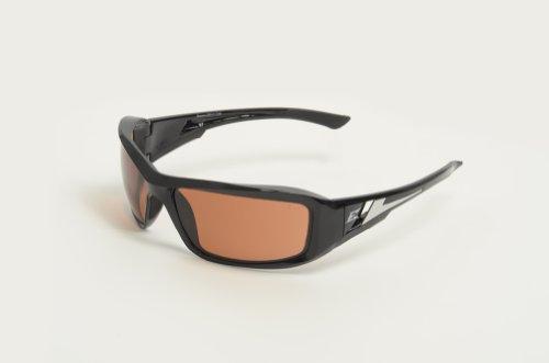 Edge Eyewear XB115 Brazeau Safety Glasses, Black with Copper ''Driving'' Lens by Edge Eyewear