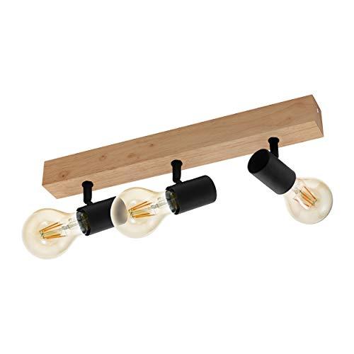 EGLO TOWNSHEND 3 Lámpara de techo, Schwarz, Braun