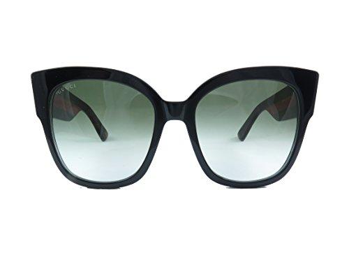 Gucci 0059 001 Black Havana Green GG0059S Sunglasses