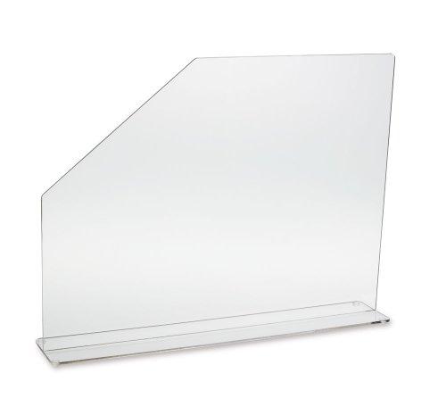 "Clearform ML2632 Clear Acrylic Sink Splash Guard with Easy-Reach Cutaway, 23.625"" Length, 18"" Height, 4.5"" Base"