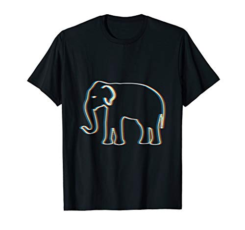 Psy Trance Psychedelic Elephant T-Shirt | Trippy Retro