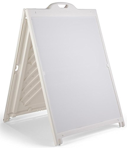 Displays2go White Plastic A-Frame Signs, Portrait Orientation, Coroplast Panel Construction, 2-Sided - White (BB3648CWH)