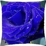 Wet Blue Rose - Throw Pillow Cover Case (18