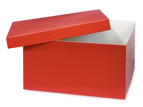 Pack of 50, Red Hi-Wall 12 x 12 x 6'' 100% Recycled Giftware Box Base Use Food Safe Barrier Like Food Grade Tissue or Cello for Food Packaging(Lids Sold Separately) by Generic
