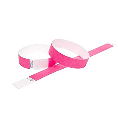 Wristbands Ltd 100 Premium Tyvek Security Event Paper Wristbands 3 4 Inch Width Pink 19mm Estimated Price -