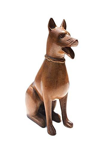 Boulevarte Handmade Wooden Dog Sculpture | Natural Walnut Wood Sculpture | Wooden Dog Figurine | Antique Small Dog sculpture | Gift for Dog Lovers | Length- 5