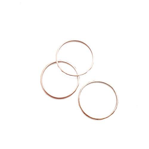 Hammered Ring Set - 6