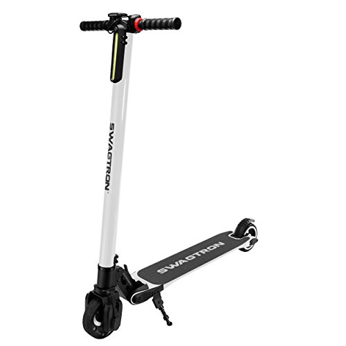Discover Bargain SWAGTRON Swagger High Speed Adult Electric Scooter; Ultra-Lightweight Carbon Fiber;...