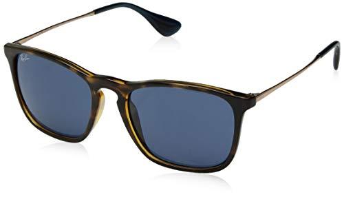 Ray-Ban RB4187 Chris Square Sunglasses, Tortoise/Blue, 54 ()