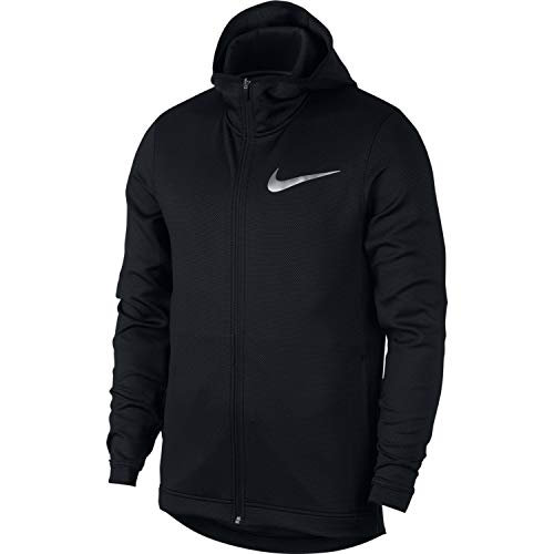 (Nike Mens Showtime Therma Flex Full Zip Basketball Hoodie Black/White 925604-010 Size X-Large)