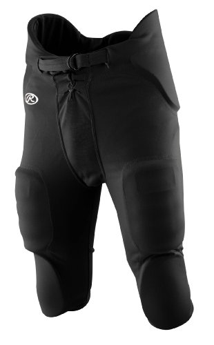 Youth Football Pants Pads - Rawlings Boys' F1500P Football Pant (Black, Medium)