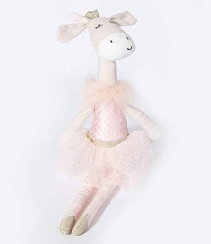 MON AMI Ballerina Giraffe Designer Plush Doll, Pink, 15