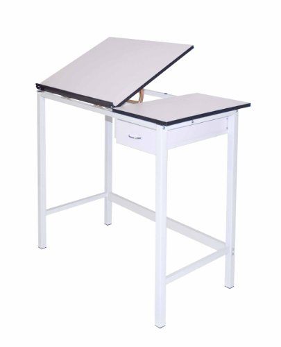 Martin Manchester Art-Hobby Table, White with White Split Top , 20-Inch by 36-Inch Size Surface by Martin