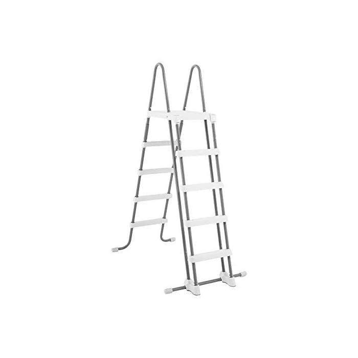 31vEkely0gL Piscina elevada rectangular gama ultra xtr frame Intex , las medidas de la piscina son 549 x 274 x 132 cm y su capacidad es de 17.203 litros Incluye depuradora de arena con capacidad de filtración de 4.500 l/h y conexión de 38 mm (arena no incluida), escalera de seguridad, tapiz y cobertor Estructura tubular: piezas de acero resistente recubierto en interior y exterior con acabado epoxi y tapón de vaciado con conex ión a manguera de jardín