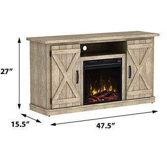 Comfort Smart Killian Electric Fireplace TV Stand, Ashland Pine