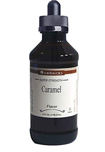 - Caramel Flavoring 4 oz, by LorAnn Oils, with Glass Dropper Bundle