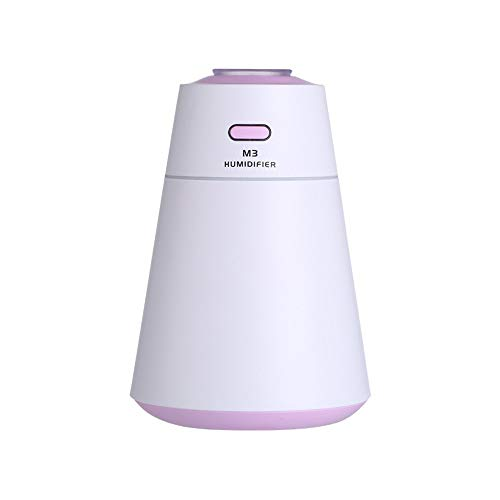 MODOQO Aromatherapy Essential Oil Diffuser -Air Filter Freshener Essential Oil Diffuser Humidifier USB 7 Color Changing Cool MistPurifier for Car, Travel, Yoga, Bedroom, Home (Purple)
