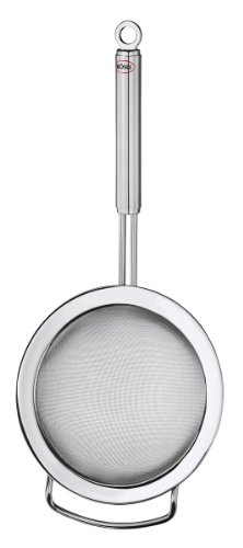 Rösle Stainless Steel Kitchen Strainer, Round Handle, Fine Mesh, (10 Stainless Steel Mesh Colander)
