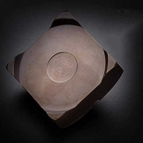 SRX 金属装飾ホームルームアクセサリー生活広場7.5センチメートルブラウンノンスリップ中国の灰皿ギフト(カラー:ブラウン、サイズ:7.5 * 7.5 * 3.5センチメートル)