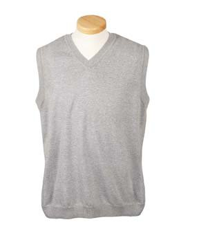 Devon & Jones Men's Full Fashioning Lighter Weight V Neck Vest, GREY HEATHER, XXXX-Large by Devon & Jones
