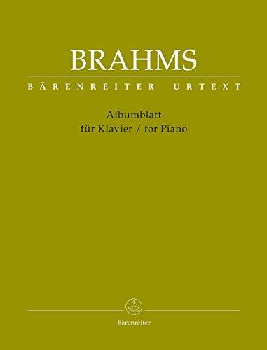 Brahms: Albumblatt