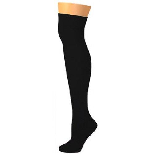 8fc88f6e1 Amazon.com  AJs Thick Solid Knee High Tube Socks - Black  Clothing