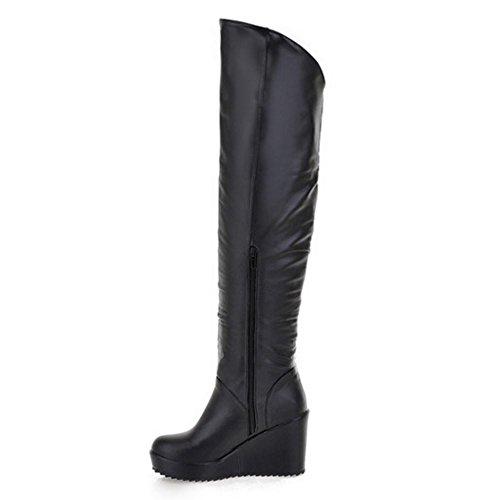 Taoffen Women Taoffen Women Zipper Women Black Boots Boots Black Boots Zipper Zipper Taoffen Black Taoffen AfaUfqwd