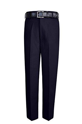 S.H. Churchill & Co. Boy's Comfort Waist Dress Pants and Belt - Navy, 12 (Dress Pleated Boys Pants)