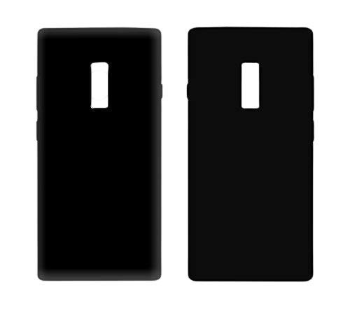 Case Creation Perfect Fitting Premium Silicone Imported Matte Finish with TPU Slim Back Cover for Oneplus 2 /Oneplus2  Black    Black