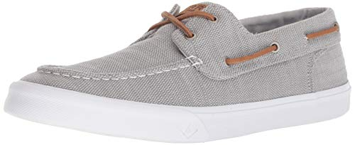SPERRY Men's Bahama II Baja Sneaker, Grey, - Eyelet System Lacing