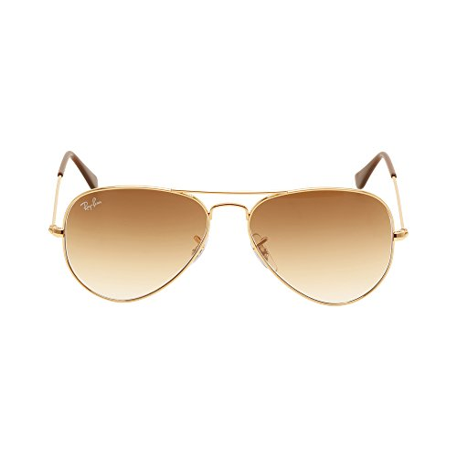 Ray-Ban Women's RB_3025_001/51 Aviator Sunglasses, Gold, 55-14-135