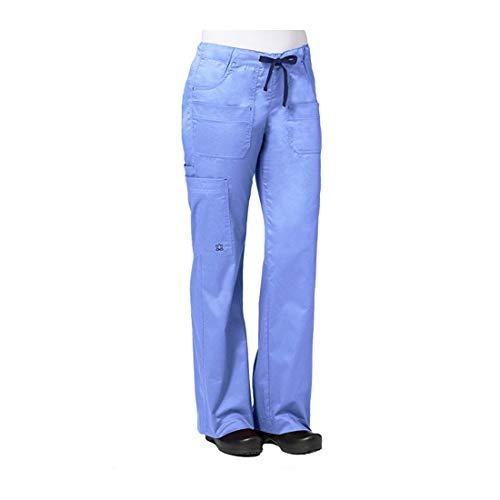 Maevn Women's Utility Cargo Pants(Ceil Blue, Small) (Scrub Cargo Pant Utility)