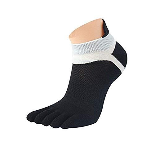 Charberry Clearance Mens Short Tube Mesh Five-Finger Sports Socks Running Five Finger Toe Socks (B) from Charberry