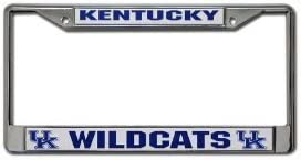 Hall of Fame Memorabilia Kentucky Wildcats Chrome License Plate Frame