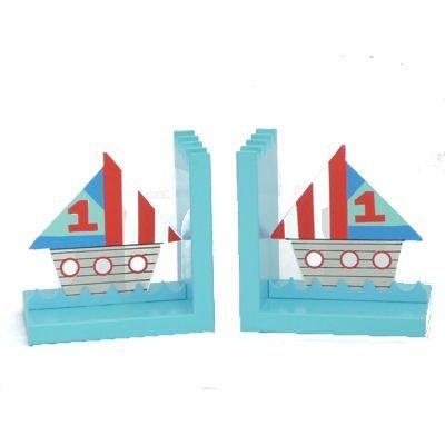 Gisela Graham serre-livres en bois design 'Bateaux' 33495