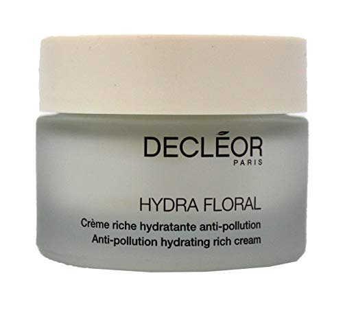 Decleor Hydra Floral Anti-Pollution Hydrating Rich Cream, 1.7 Ounce (Large Floral Cream)