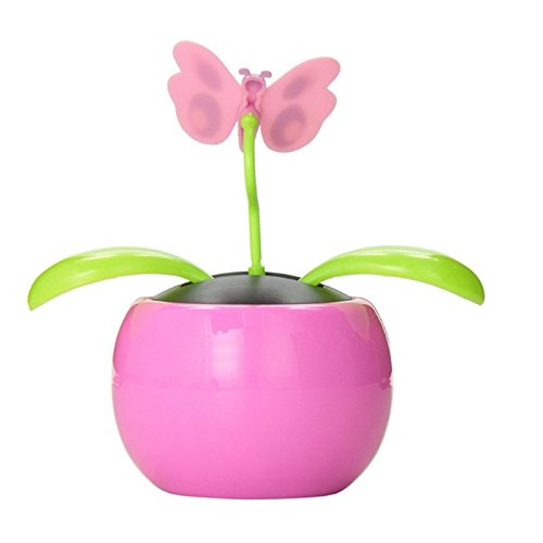 70fe5e0dc5a087 Ocamo Car Decoration Automobile Decoration Solar Power Automatic Swing Apple  Flowerpot Moving Dancing Butterfly Car Toy  Amazon.co.uk  Toys   Games