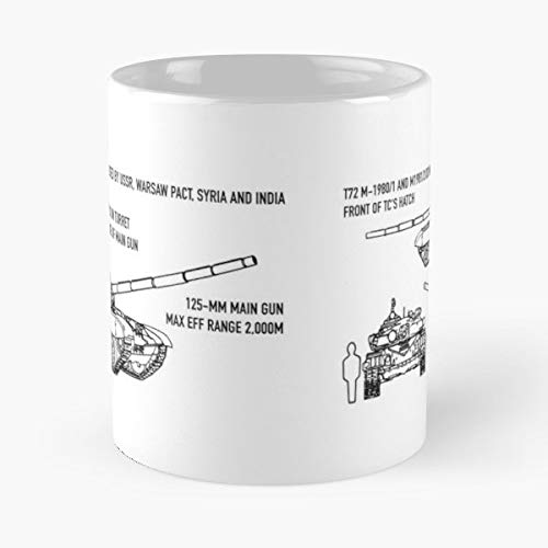 (T72 T 72 Russian Tank Recognition - Morning Coffee Mug Ceramic Novelty Holiday)