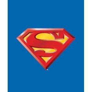 JPI Fleece Throw Blanket - Superman Shield - Lightweight Faux Fur Fleece Blanket Large 50