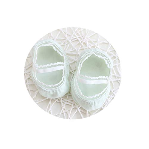 (Baby Socks Lace Cotton Ankle Socks Ruffle Ripple Edge,For 0-12 Months Boys and Girls Toddlers Infants (Green,L))