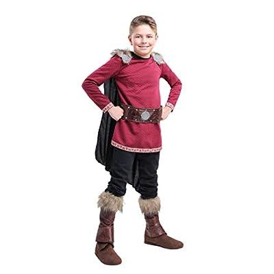 Boy's Burgundy Viking Costume: Clothing