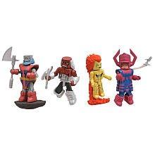 Marvel Minimates Fan Choice Exclusive 4Pack Heralds of Galactus Galactus, Nova, Morg Terrax
