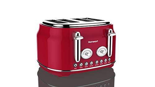 red 4slice toaster - 2