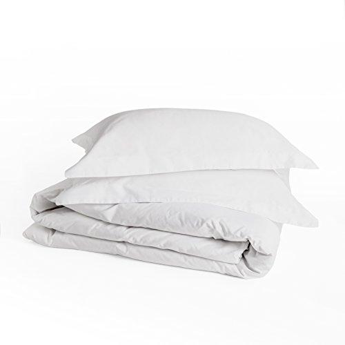 Peru Pima - 415 Thread Count - Percale - 100% Peruvian Pima Cotton - Duvet Cover Set - King/Cal King, White - Pima Cotton Percale